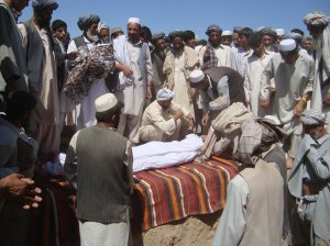An image of a funeral in Afghanistan that the government tied to a recent American airstrike actually took place in 2009. Agence France-Presse — Getty Images