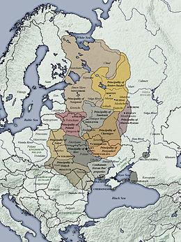 Het Kievse Rijk circa 1100 n.Chr.
