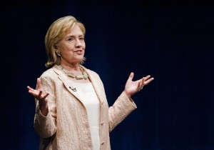 Hillary Clinton speaks at the Long Center in Austin on June 20. (Ashley Landis Corbis/European Pressphoto Agency)