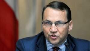 © afp. Radoslaw Sikorski, de Poolse minister van buitenlandse zaken.