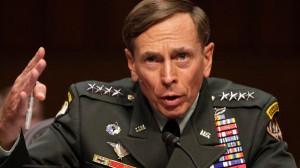 General David Petraeus gestures during the Senate Intelligence Committee hearing in Washington