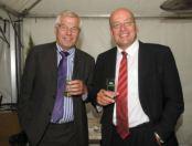 Henny van der Most, asielondernemer, en Fred Teeven, immigratie-fighter (VVD)