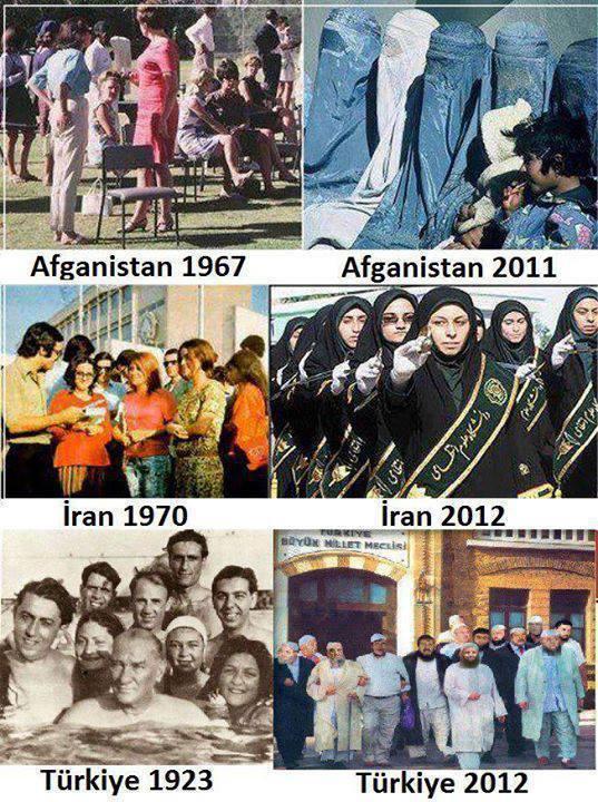 Niet het plaatje wat ik zocht over diversiteit. Lijkt er wel een beetje op. Het eindigt ook met iedereen in burka
