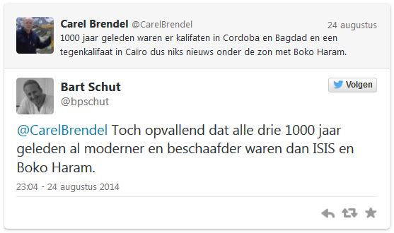 screenshot, zodat verwijderen van de tweet door Schut geen zin heeft