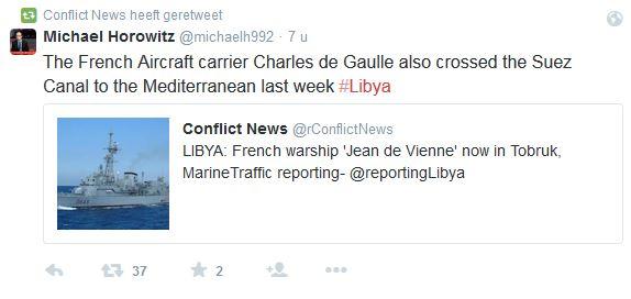 Frankrijk, nota bene de aanstichter van het gelazer in Libië gaat ook meedoen?