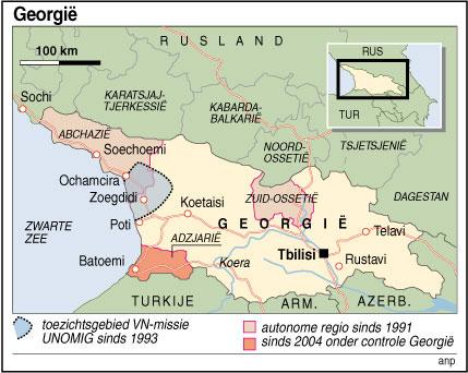 RIJSWIJK - Infografiek kaart Georgie. ANP INFOGRAPHICS LUIZINK/GIDDING