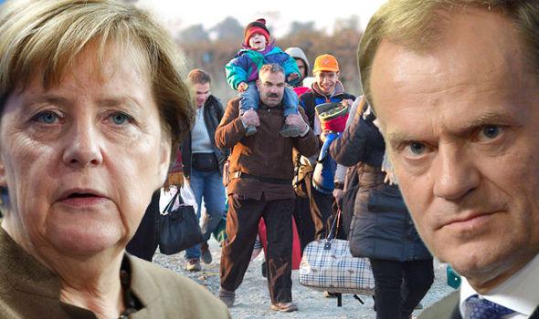 Merkel en Tusk